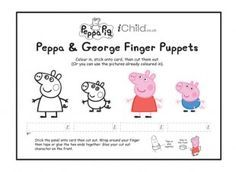 These Peppa Pig finger puppets are a great craft template for your child to have…