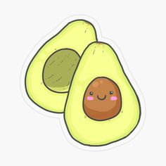 Avocado Art, Cute Avocado, Avocado Food, Bubble Stickers, Diy Stickers, Taco Drawing, Kawaii Cute Wallpapers, Wallpaper Fofos, Cards For Boyfriend