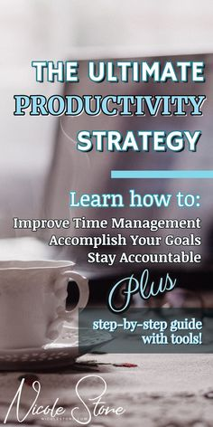This productivity tip will keep you accountable, save you time, improve your focus, and let you conquer your goals. There is even a bonus step by step productivity guide and a list of productivity apps. become more productive. #productivity #timemanagement