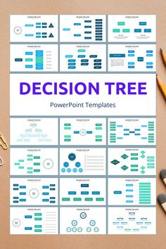 Decision Tree PowerPoint Slide Templates - creative design business presentation templates in PowerPoint. Ready template, easy to edit. #DecisionTree #PowerPoint #Design #Creative #Presentation #Slide #Infographic #Template Presentation Slides Design, Business Presentation Templates, Powerpoint Slide Templates, Powerpoint Design Templates, Project Management, Time Management, Infographics, Dashboard Examples, Worksheets
