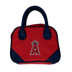 MLB Los Angeles Angels Mini Bowler Purse by Charm14. $11.03. Short handles for carrying. Can be a make-up bag. Made of microfiber material. Quality embroidered team logo. microfiber. Support your favorite team with this stylish mini-bowler.  Use it for a make up purse  or  a small handbag for the little fan in your life.  Material is made of a durable micro fiber which allows for easy cleaning.. Save 45% Off!
