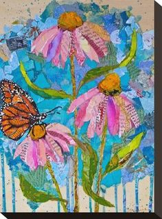 Stretched Canvas Print: Wild Flowers2 : 12x9in