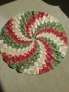 Christmas Tree Skirt Made Using My Own Template Approximately 87 It Needs Quilting