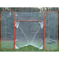 """EZ Goal Lacrosse Backstop by EZGoal. $80.20. 87616 Features: -Lacrosse backstop.-Reverse and attach to your rebounder.-Folds back out of play our removes for game play.-Powder coated steel for long life. Includes: -Attaches to any 6"""" lacrosse goal with bungee's (included). Warranty: -2 Years warranty.. Save 43% Off!"""