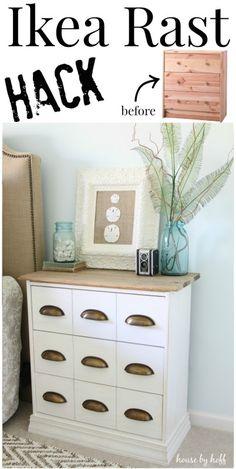Ikea Rast Hack {A New Bedside Table!} - House by Hoff --- das ist doch wenigstens mal ein schöner Rast Hack