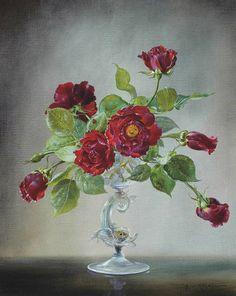 Flowers Painting by Cecil Kennedy Art Floral, British Flowers, Exotic Flowers, Silk Flower Arrangements, Still Life Art, Art Design, Matisse, Flower Art, Painting