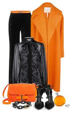 """Black & Orange"" by nuria-pellisa-salvado ❤ liked on Polyvore featuring Emilio Pucci, Roksanda, Dolce&Gabbana, Delvaux, Hermès, René Caovilla, George J. Love, David Yurman, polyvorecommunity and fashionset"