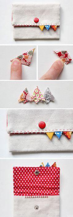 How to Make Triangular Ornaments Purse. Card Holder Decor  http://www.handmadiya.com/2016/10/card-holder-decor-ideas.html