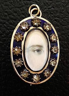 Georgian Miniature Lover's Eye Portrait Brooch - Pendant c. 1800s