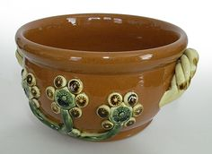 Bow with Flowers by Nolde Forest Pottery