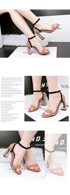 Nysiani peep toe высокие каблуки сандалии женщин 2017 ночной клуб платье пряжки ремня моды толстые каблуки женские летние сандалии обувькупить в магазине Nysiani Official StoreнаAliExpress