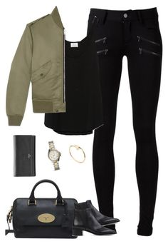 """Sans titre #830"" by camillet98 ❤ liked on Polyvore featuring Paige Denim, Zara, Yves Saint Laurent, Mulberry, Acne Studios, Cartier and FOSSIL"