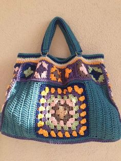 Crochet Yoke, Love Crochet, Diy Purse, Crochet Purses, Diy And Crafts, Shoulder Bag, Boho, Sewing, Knitting