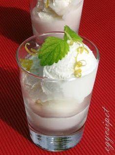 egycsipet: Joghurtos citromfagylalt Parfait, Fudge, Healthy Living, Food And Drink, Ice Cream, Pudding, No Churn Ice Cream, Healthy Life, Icecream Craft