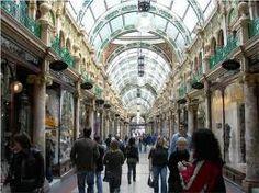 shopping arcade Leeds city