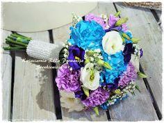 Bukiet ślubny w odważnych kolorach :-)