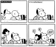 """""""Good Grief!"""", Lucy. Snoopy, and Charlie Brown."""
