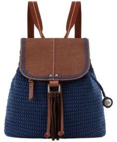Crochet Purses Design The Sak Avalon Convertible Crochet Backpack, a Macy's Exclusive Style - Crochet Backpack Pattern, Crochet Purse Patterns, Colorful Backpacks, Brown Backpacks, Crochet Shell Stitch, Bead Crochet, Crochet Handbags, Crochet Purses, Crochet Bags
