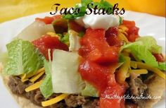Taco Stacks - Quick and Easy Dinner Recipe   #easy #dinner #recipes