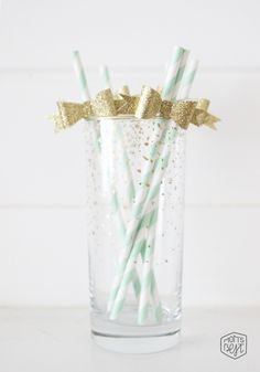 DIY paper bow straws