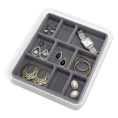 """9 Section Stacking Accessory Tray, 1.5""""H x 8""""W x 9""""D - $23.99"""