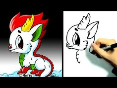 How to Draw a Cartoon Dragon - Learn to Draw - Disney Drawings, Cartoon Drawings, Animal Drawings, Cartoon Dragon, A Cartoon, You Draw, Learn To Draw, Doodle Drawings, Easy Drawings