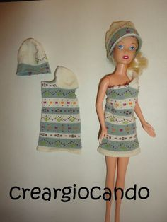 vestito barbie (ok) Diy Barbie Clothes, Barbie Clothes Patterns, Fairy Clothes, Crochet Doll Clothes, Clothing Patterns, Barbie Et Ken, Barbie Doll, Barbie Birthday, Mini Vestidos
