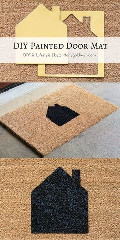 Learn how to make a custom-painted doormat--an easy DIY that requires very…