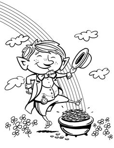 If your lovely kiddos are folklore lovers, then we suggest you to hand them Leprechaun printable coloring pages. Considering the leprechaun, many great Free Coloring Sheets, Free Printable Coloring Pages, Colouring Pages, Coloring Pages For Kids, Coloring Books, Sant Patrick, Merry Christmas Coloring Pages, St Patricks Day Pictures, Kobold