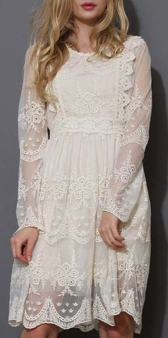 Lace Dress for the winter with boots and a cozy cardi