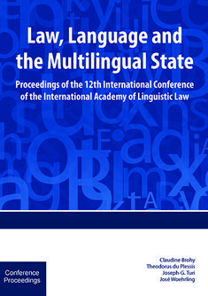 Law, Language and the Multilingual State Free State, Thing 1 Thing 2, Law, This Book, Public, Language, Writing, Language Arts, A Letter