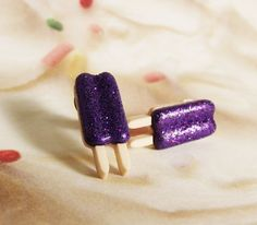 Purple Grape Popsicle Food Earrings by JETsBodyCandy on Etsy, $3.00 >>> I have closed my JET'S Body Candy Shop,... please come to my facebook page - ATOMIC CAT CREATIONS