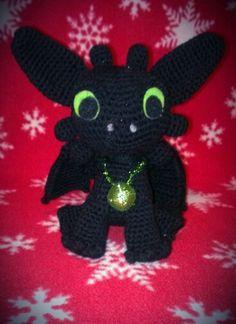 Crochet Amigurumi Toothless Dragon ... Ready for Christmas
