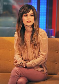 Rachel Bilson Hair. small bangs, light fade... I love Rachel Bilson.