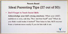 Ideal Parenting Tips (Tip 27)