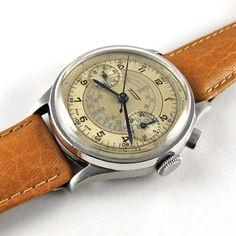 Tissot Steel Vintage Chronograph Wristwatch Circa 1938 Wwtc1 V03