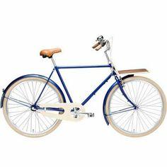 "Herrecykel 28"" af Velorbis. Urban Chic 3 gear. Blå Stålstel 57 cm"
