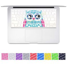 """DHZ® Keyboard Cover Silicone Skin for MacBook Pro 13"""" 15"""" 17"""" (with or w/out Retina Display) iMac and MacBook Air 13"""" (Blue Owl)"""
