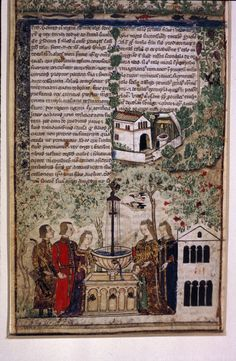Egerton 3781 Cocharelli, A leaf from a prose treatise on the Seven Vices Italy, N. W. (Genoa); c. 1330 - c. 1340 - f.01