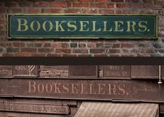 Booksellers Vintage Sign Art