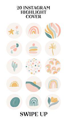 Web Banner Design, Web Design, The Design Files, Hight Light, Doodle Drawing, Watercolor Flower, Branding Design, Logo Design, Story Highlights