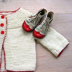 Ravelry: petrao's Lilla koftan - white and red