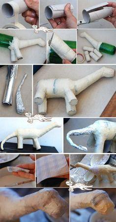 dinosaure papier mache:                                                                                                                                                      More