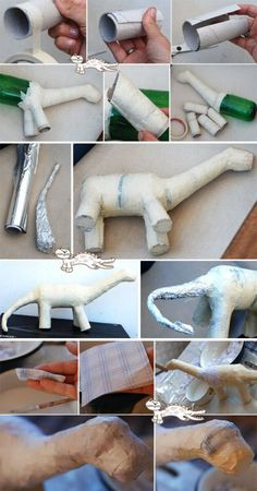 dinosaure papier mache…