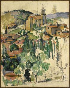 The Village Of Gardanne. Le Village De Gardanne  Paul Cezanne