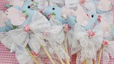 Espeto passarinho II para festa com Laço e flor - Infinita Arte for Baby
