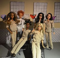 Barbie is the new black: His group shot of Orange is the New Black characters is incredibly detailed, including Red's spiked locks, Crazy Eyes' unique 'do, Alex Vause's glasses, and Moreno's bright lipstick