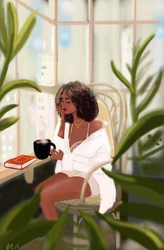 Founder of Nicholle Kobi Studios and Nikisgroove Brand. Nicholle is Black French Illustrator mostly know for her Black women 's Art work Nicholle Kobi is also a Visual Artist , Fashion enthusiast , a Speaker. Black Love Art, Black Girl Art, Art Girl, Black Girls, Arte Black, Images Kawaii, Art Et Design, Black Girl Cartoon, Natural Hair Art