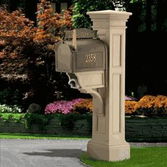 This Grandin Road Liberty Mail Post is truly distinctive. This sturdy mail post is built to a unique design that perfectly pairs with Grandin Road style. 4 x 4 wooden post needed for mailbox set up.Please note: Mailbox not included. Large Mailbox, Mailbox Post, Mailbox Ideas, Mailbox Designs, Wooden Mailbox, Mailbox Stand, Stone Mailbox, Black Mailbox, Diy Mailbox