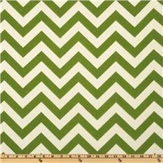 Possible Curtains or Crib Skirt.  Premier Prints Indoor/Outdoor ZigZag Greenage $8.98 per yard